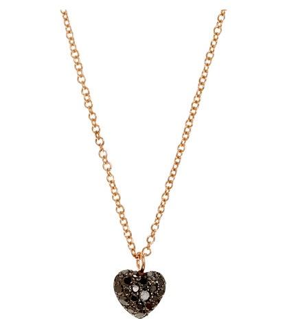 Finn Black Diamond Heart Pendant