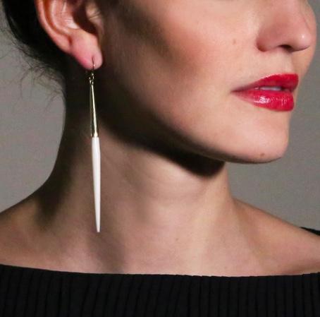 Soko White earrings