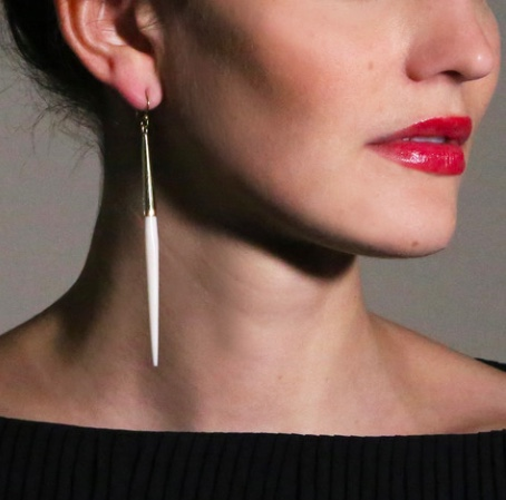 Soko White earrings