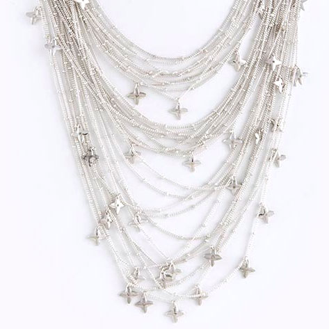 Design Spark Layered Star Charm Necklace