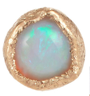 Julie Wolfe opal and gold stud earrings
