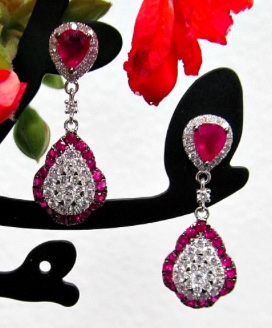 Lumiere ruby diamond earrings