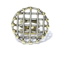 Anndra Neen Round Cage Ring
