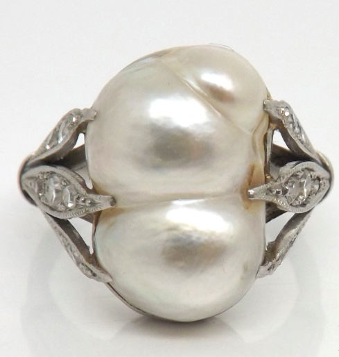 Kaizen Antiques Baroque Pearl Ring