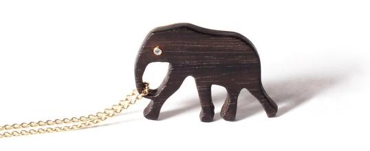 Marc Alary Ebony Elephant Pendant