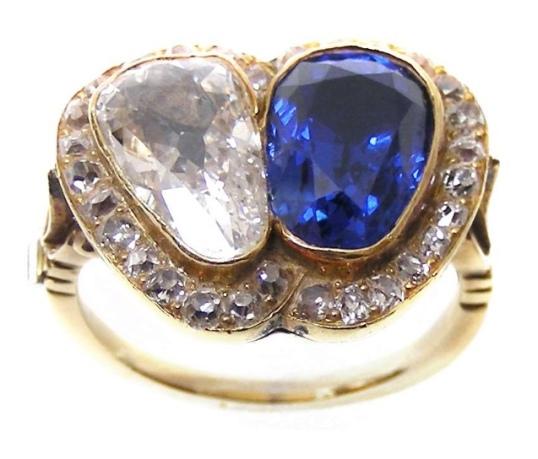 SJ Phillips Diamond and Sapphire ring