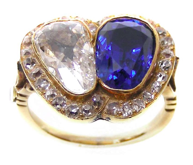 SJ Phillips Diamond and Sapphire ring