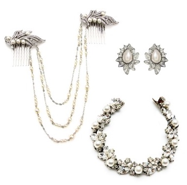 Ben Amun Pearl and Crystal set