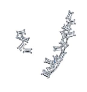 Borgioni Mismatched Baguette Earrings