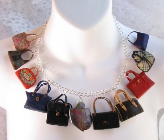 Etsy bag necklace