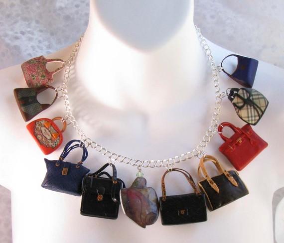 Etsy bag necklace