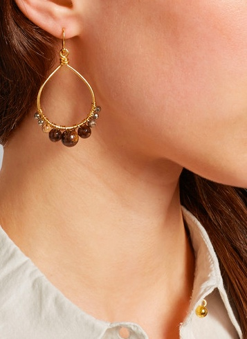 Chan Luu Bronzite Earrings