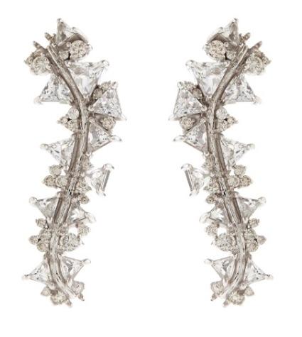 Fernando Jorge Diamand and White Topaz earrings