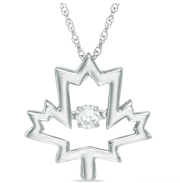 Peoples Jewellers Maple Leaf pendant