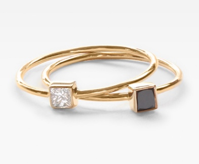 Vrai and Oro Stacking Rings