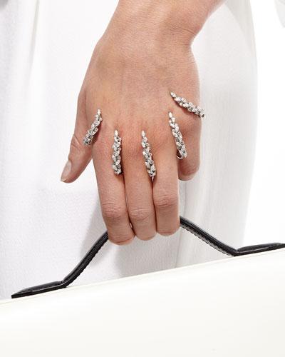 Yeprem Diamond Claw Hand Bracelet