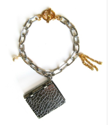 Dirty Librarian Chains Book Locket Bracelet