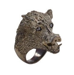 Huckleberry Boar's Head Ring