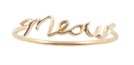 Meow gold ring