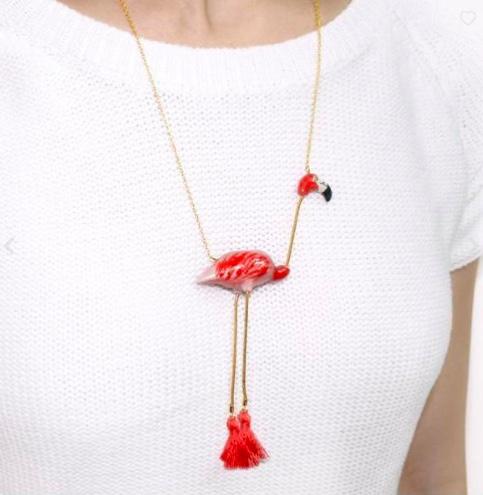 Nach Bijoux Flamingo Long Necklace