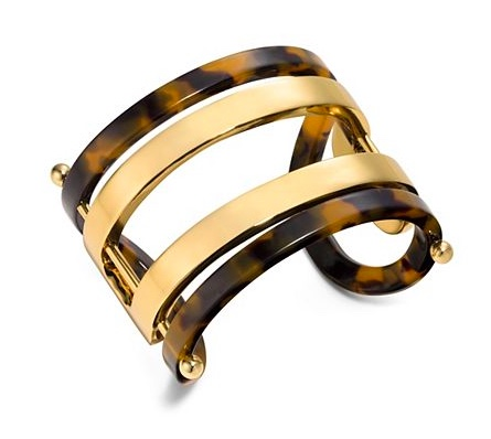 Tory Burch Open I.D. Metal and Resin Cuff
