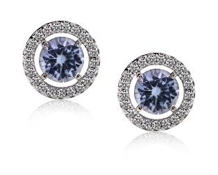 Carat Blue Topaz Earrings