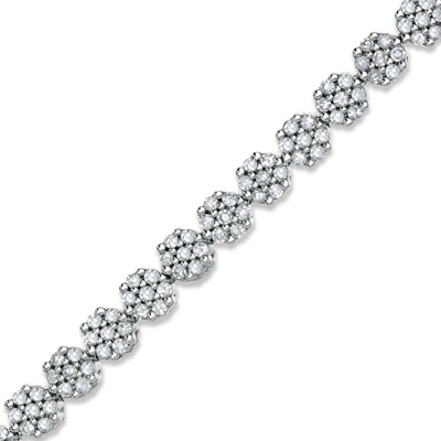 Zales Diamond Flower Bracelet