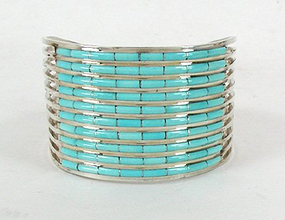 Anson and Letitia Wallace Zuni Sterling Bracelet
