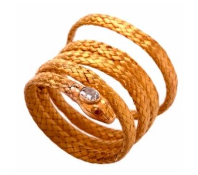 Antique mesh snake bracelet