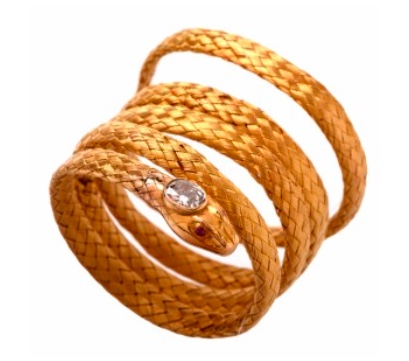 Antique mesh snake bracelet
