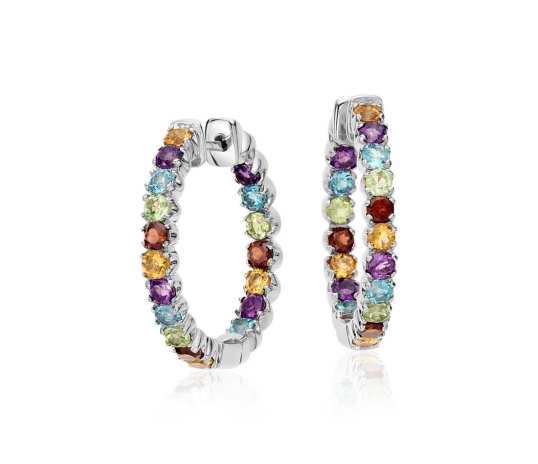 Blue Nile multicolor gemstone earrings