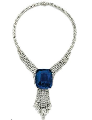 Christies sapphire diamond necklace
