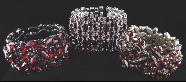 Sherman red cuff bracelets
