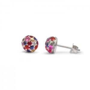 Studio 1098 multicolored sapphire earrings