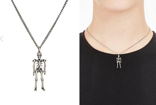 YSL Punk Skeleton Necklace