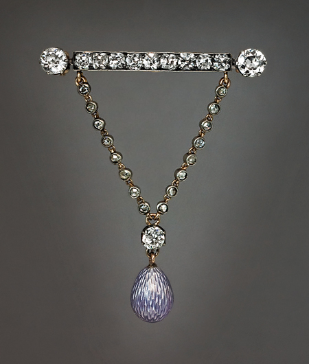 Antique Diamond Egg Brooch