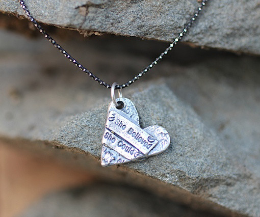 Show the Love She Believed She Could Necklace