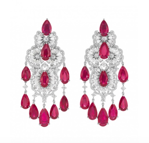 Chopard ruby diamond earrings