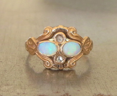 AntiqueSparkle opal ring