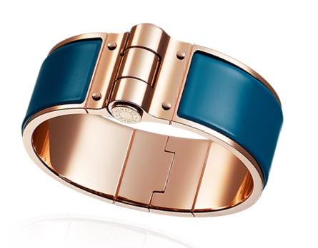 Hermes Hinged Enamel Bracelet