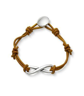 James Avery Inifinity Leather Knot Bracelet