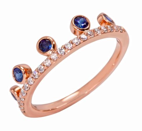 Khai Khai Sapphire Diamond Stack Ring