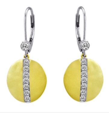 MeiraT Diamond and Disc Earrings