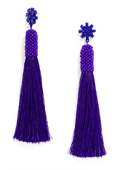 Baublebar blue tassel earrings 1