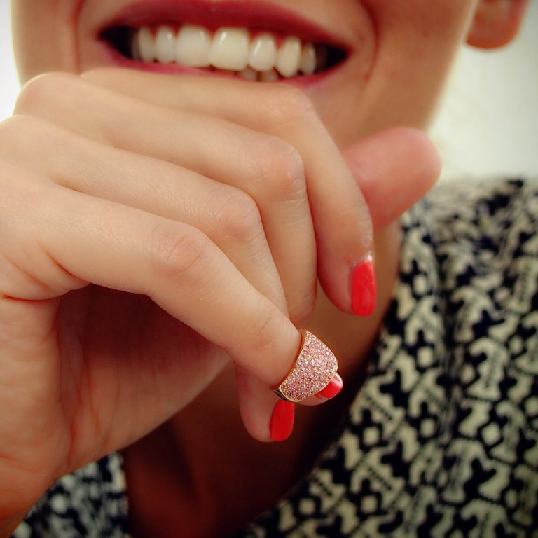 Plukka Pink Sapphire Nail Ring