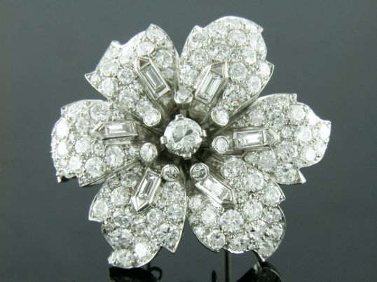 Shreve Crump and Low Diamond Brooch
