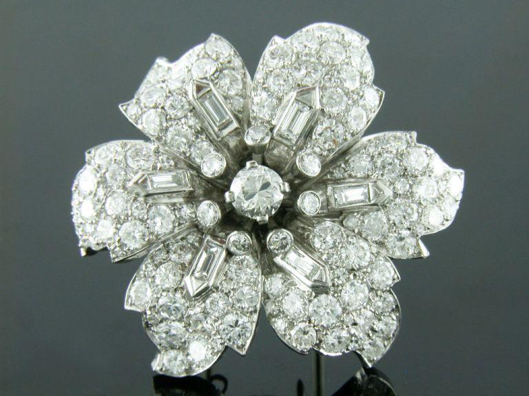 Shreve Crump and Low Diamond Brooch
