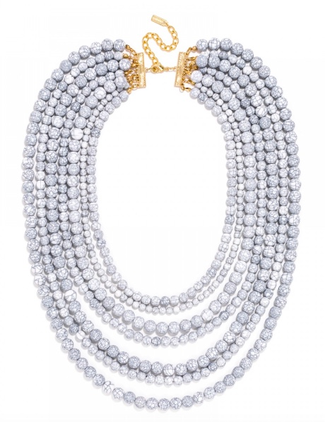 Baublebar crackle white bead necklace