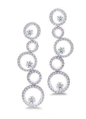Forevermark Bubble Five Station Earrings