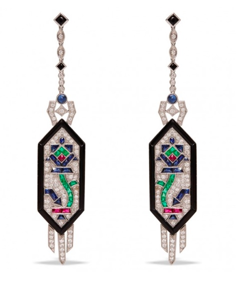 Nina Runsdorf Deco Style Earrings